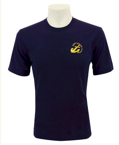 Vanguard NAVY LEAGUE T-SHIRT NAVY BLUE WITH GOLD NLCC LOGO - S