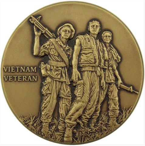 Vanguard VIETNAM VETERAN ENGRAVABLE COIN