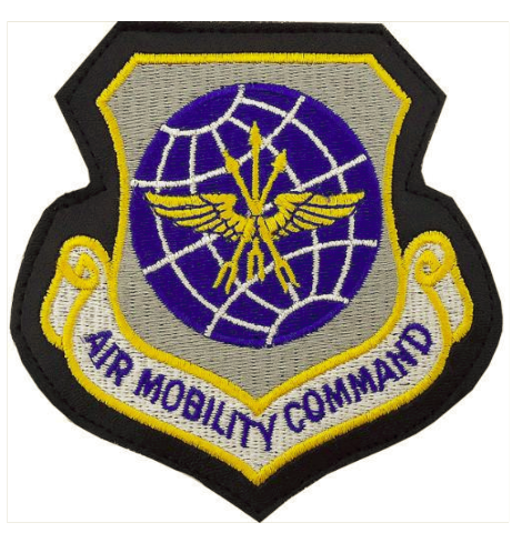 Vanguard AIR FORCE PATCH: AIR MOBILITY COMMAND - LEATHER