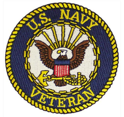 Vanguard VETERAN PATCH: US NAVY