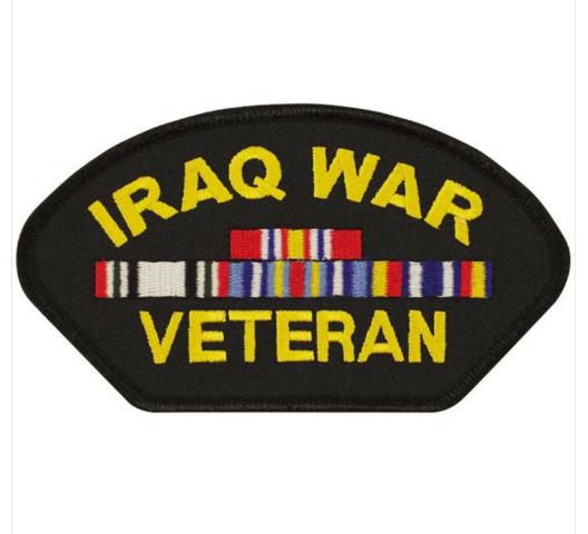 Vanguard VETERAN PATCH: IRAQ WAR