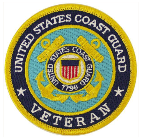 Vanguard VETERAN PATCH: US COAST GUARD