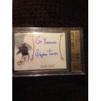 "GLEYBER TORRES 2017 Leaf Trinity Gold Spectrum 1/1 Auto Inscription ""Go Yankees"""