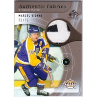 MARCEL DIONNE 2005-06 SP Game Used Authentic Fabrics Patches Card #APMD /75