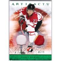 CODY EAKIN 2012-13 Frozen Artifacts Dual Jersey Prime Patch Card /75 12/13