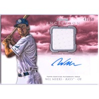 WIL MYERS 2013 Bowman Inception Auto Jersey Red Parallel Card /50 Padres