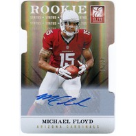 MICHAEL FLOYD 2012 Donruss Elite Status Gold Autograph Rookie Auto Card 1/24