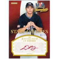 J.P. RAMIREZ 2013 Panini USA Baseball Rookie Auto Red 1/25 Card JP
