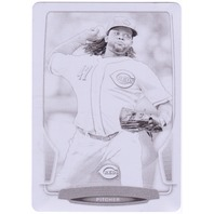 JOHNNY CUETO 2013 Bowman Baseball 1/1 Printing Plate Black Card #10