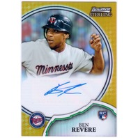BEN REVERE 2011 Bowman Sterling Gold Refractor Rookie Auto Card /50