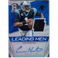 CAM NEWTON 2014 Panini Spectra Prizms Blue Jersey Relic Signed Card 7/10 Auto