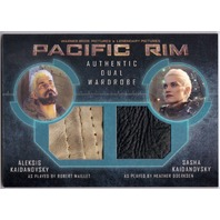 PACIFIC RIM 2014 Wardrobe Dual Leather Relic Card Aleksis & Sasha Kaidanovsky