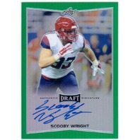 SCOOBY WRIGHT 2016 Leaf Metal Draft Prismatic Green Rookie Auto 2/10 Signed Card
