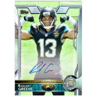RASHAD GREENE 2015 Topps SP Flexing Muscles Pose Signed Card #495B Variation