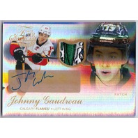 JOHNNY GAUDREAU 2014-15 Fleer Showcase Prime /49 Flair Jersey Patch Auto Card 67