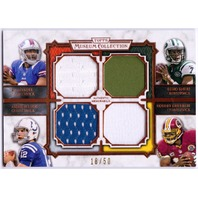 LUCK GRIFFIN III MANUEL SMITH 2013 Topps Museum QB Quad Jersey Relic Card /50