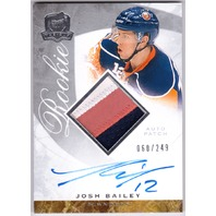 JOSH BAILEY 2008-09 The Cup Rookie Patch Auto Card #119 RC /249
