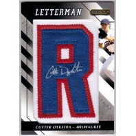 "Cutter Dykstra 2008 Razor Letterman ""R"" #CTDR Autograph Patch 3/20"