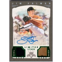 Jim Palmer 2016 Diamond Kings Limited Lithos Material Signatures Framed Green /5