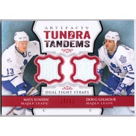 MATS SUNDIN DOUG GILMOUR 2013-14 Artifacts Tundra Tandems Dual Fight Strap 12/12