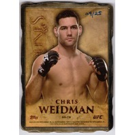 CHRIS WEIDMAN 2014 Bloodlines Engraved Engots Gold 9/25 Metal Card #MRCW