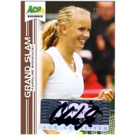 CAROLINE WOZNIACKI 2013 Ace Authentic Grand Slam Brown Auto Signed Card 11/50