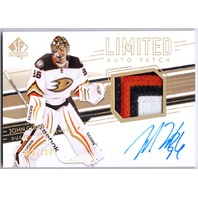 JOHN GIBSON 2014-15 SP Authentic Limited /100 Four Color Patch Auto Card #49 /100