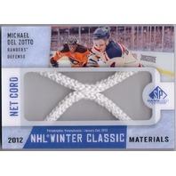 MICHAEL DEL ZOTTO 2013-14 SP Game Used Winter Classic Net Relic Card