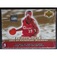 2003/04 Upper Deck Lebron James Phenomenal Beginning Basketball Set Box (Sealed)