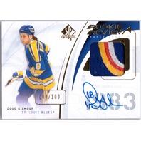 DOUG GILMOUR 2009-10 SP Authentic Limited /100 Four Color Patch Auto Card /100