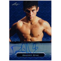 DOMINICK CRUZ 2011 Leaf Metal Blue UFC MMA Refractor Auto 23/25 Card #BAMT1