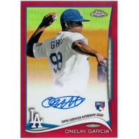 Onelki Garcia 2014 Topps Chrome Red Refractor Signed On Card Autograph 15/25