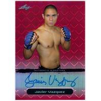 JAVIER VAZQUEZ 2011 Leaf Metal Red UFC MMA Refractor Auto 1/5 Card #BAJV1