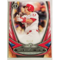 Rhys Hoskins 2018 Topps Tribute '18 Rookies Red Rookie RC 1/10 Phillies #18R-5