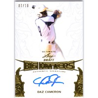 DAZ CAMERON 2015 Leaf Draft 7/10 Rookie Big Hitters Gold Auto On Card Astros