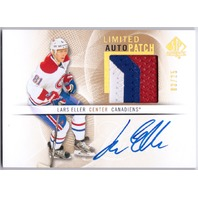 LARS ELLER 2012-13 SP Authentic Limited /100 Three Color Patch Auto Card #56 /25