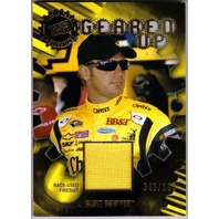 CLINT BOWYER 2011 Press Pass Geared Up Gold Firesuit Card 42/100 NASCAR Cheerios