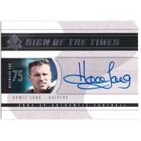 HOWIE LONG SP Authentic Sign of Times Autograph Auto On Card Los Angeles Raiders