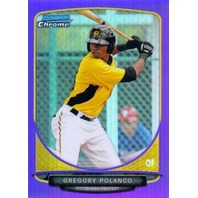 GREGORY POLANCO 2013 Bowman Chrome Prospects Purple Refractor 96/199 Card