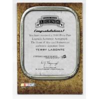 Terry Labonte NASCAR 2010 Press Pass Authentics auto /119 Autograph