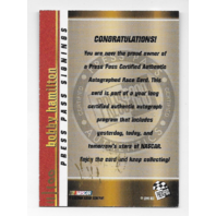 Bobby Hamilton NASCAR 1999 Press Pass Signings auto /100 gold Autograph