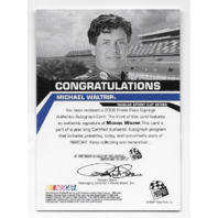 Michael Waltrip NASCAR 2008 Press Pass Signings auto /25 blue Autograph