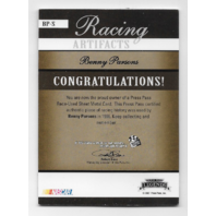 Benny Parsons NASCAR 2007 Press Pass Racing Artifacts /199 Race used sheet metal