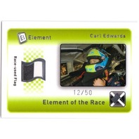 CARL EDWARDS 2009 Element Elements of the Race Black-White Flag Card #ERXCE /50