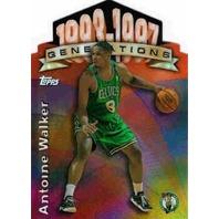 ANTOINE WALKER 1997-98 Topps Generations Refractors Die-Cut Insert Card Celtics