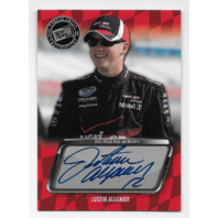 Justin Allgaier NASCAR 2010 Press Pass Authentics auto blue Autograph