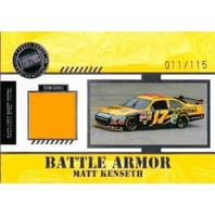 MATT KENSETH 2008 Press Pass Stealth Battle Armor Race Sheet Metal 11/115 Card