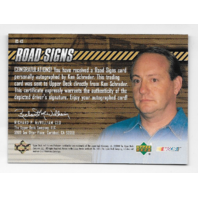 Ken Schrader NASCAR 2000 Upper Deck Road Signs auto #RS-KS Autograph