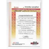Brendan Gaughan NASCAR 2004 Wheels Authentic Autographs blue autograph