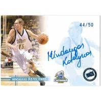 MINDAUGAS KATELYNAS 2005 Press Pass Blue Auto On Card Rookie 44/50 Chattanooga